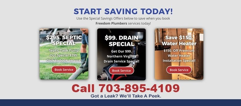 freedom plumbers services coupon