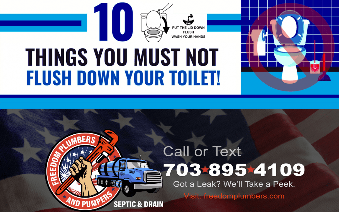 Top Things to Avoid Flushing Down Your Drain!
