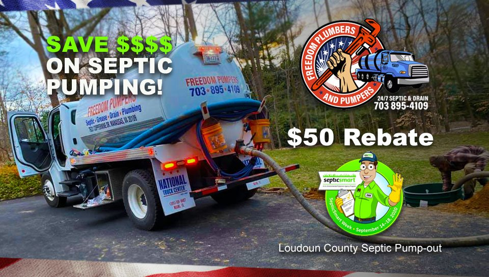 Loudoun County VA Septic Pump-out Service $50 Rebate