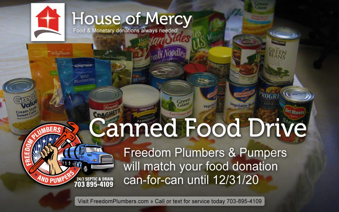 Manassas House of Mercy Canned Food Drive 2020